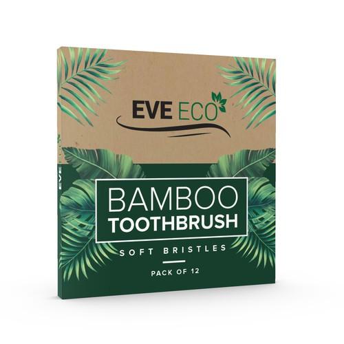 EveEco - Bamboo toothbrush Box Design