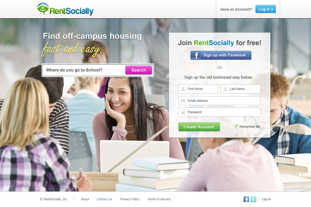 Help RentSocially with a New Website Design - UI driven, clean, intuitive, web 2.0  built for the social generation
