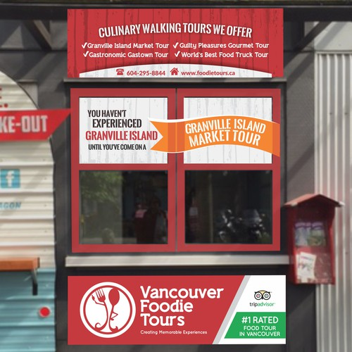 Store signage for for award-winning food tour company