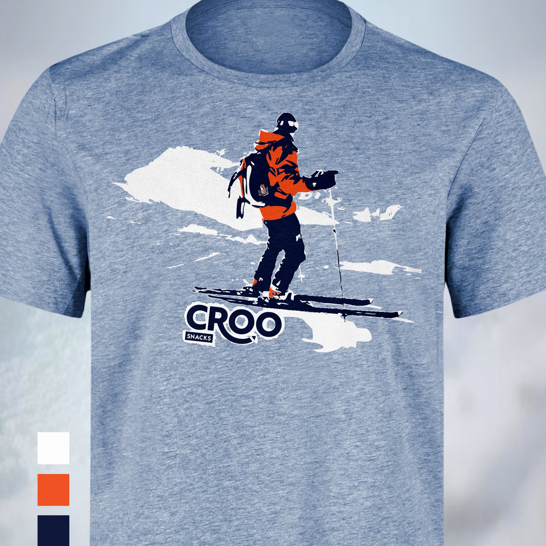 Design a Shirt for a Ski-inspired Snack Brand
