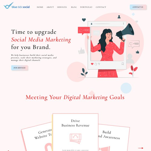 Landing page concept for Digital marketing agency