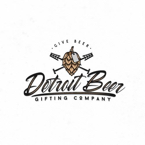 Detroit Beer Gifting Company Logo Design
