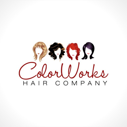 "Create the next logo for ColorWorks ""Hair Company"" will be under ColorWorks & smaller."