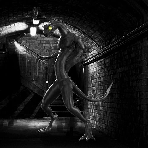 Horrifying creature concept design