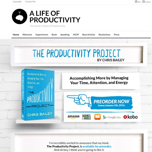 Landing Page for The Productivity Project