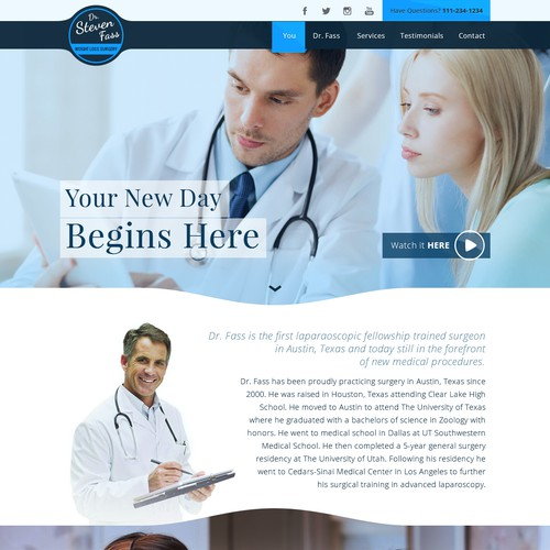Weight Loss Website for Dr Fass