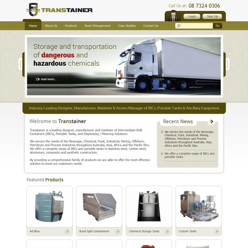 New website design wanted for www.transtainer.com.au