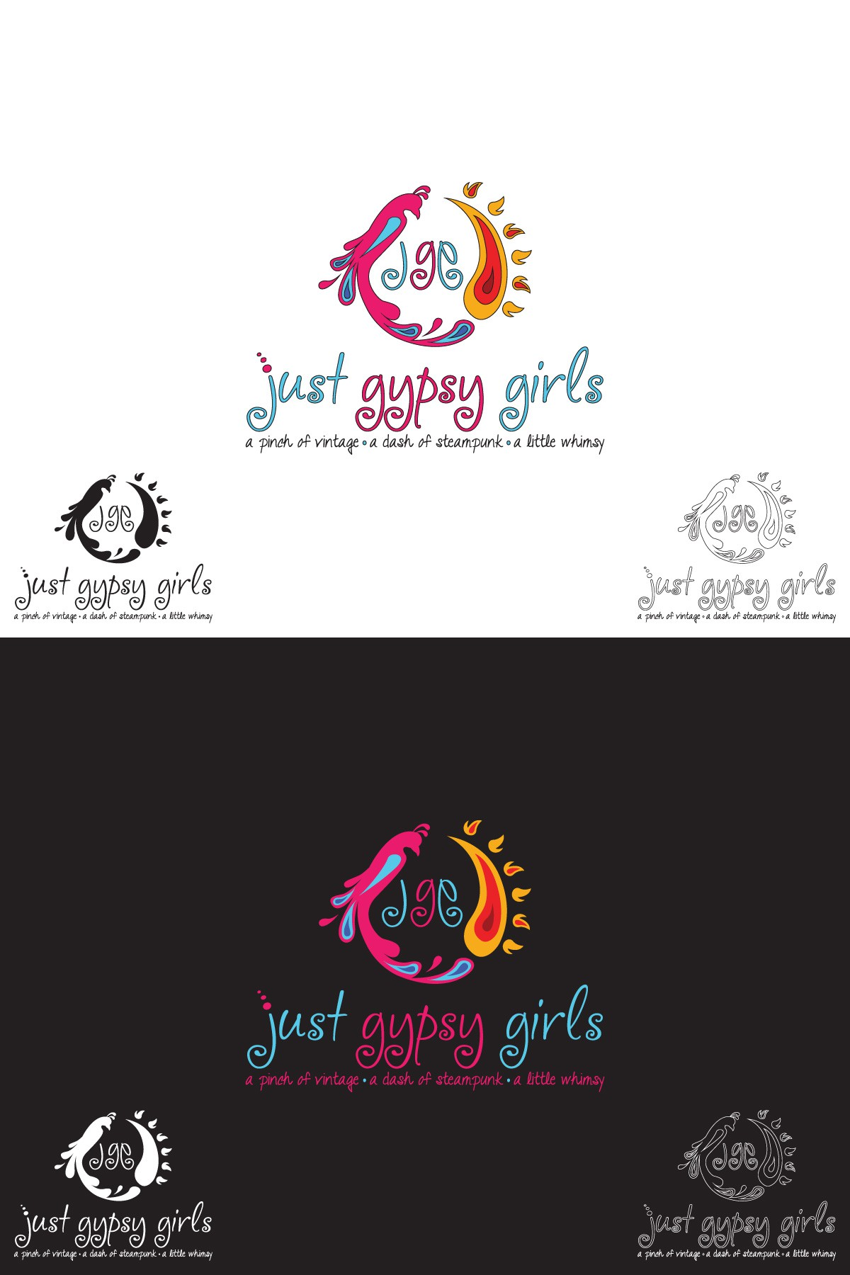 Create a logo for Just Gypsy Girls craft business