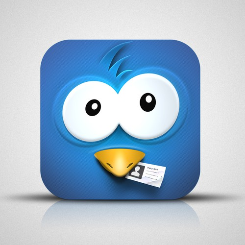 iOS app icon design for a cool new twitter client