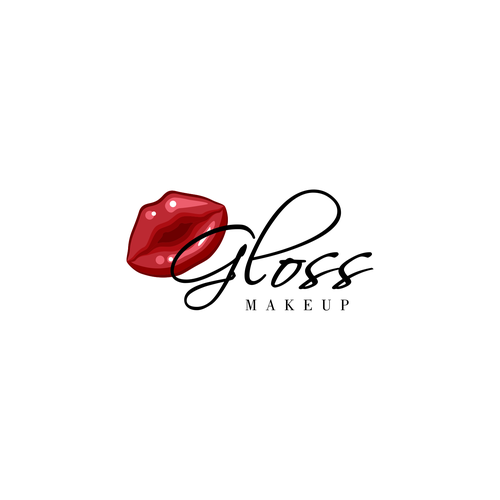 Youthful logo concept for Gloss Makeup