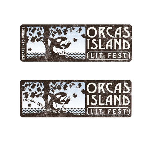 Lit Fest Orca Island Logo