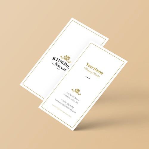 Business Card Design for Kingdom Harvest