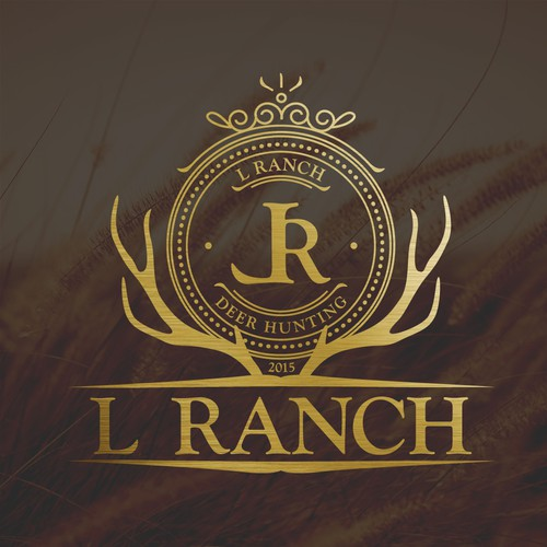 Logo for deer hunting L Ranch