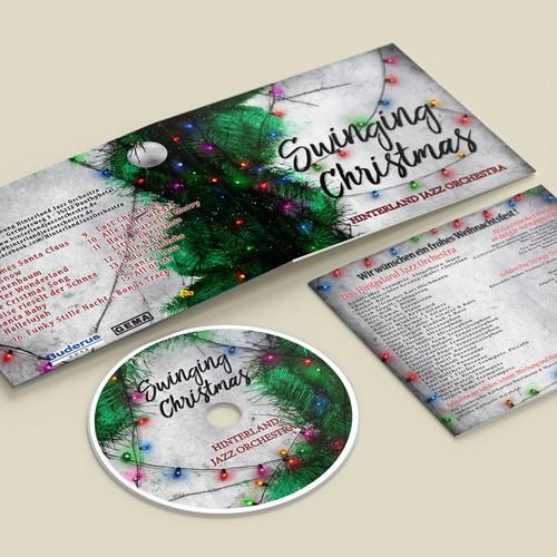Winning design for Swinging Christmas album for Hinterland Jazz Orchestra