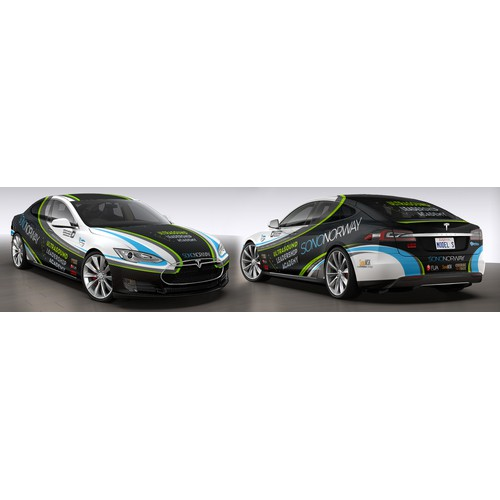 Create an awesome car wrap for Tesla Model S for cutting edge doctors!