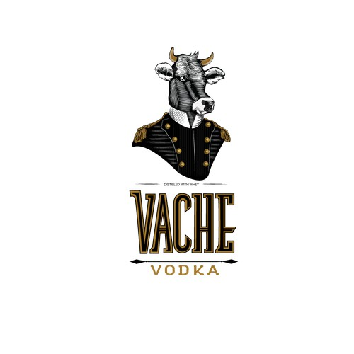 Vache Vodka Splash Illustration