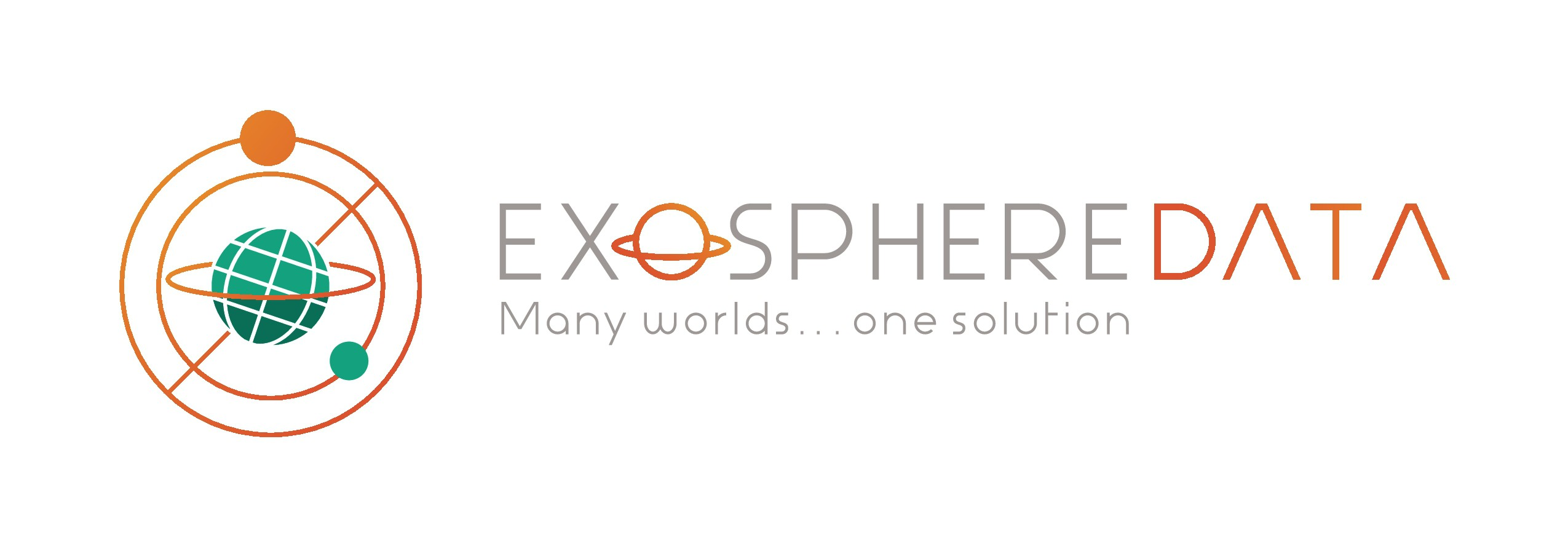 'Many worlds... one solution for the cloud' brand design for Exosphere Data, Inc