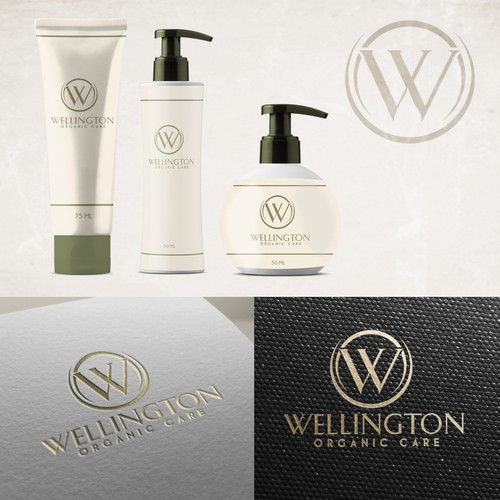Wellington Organic Care logo for a  new skin care line