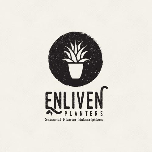 Vintage logo for landscape firm