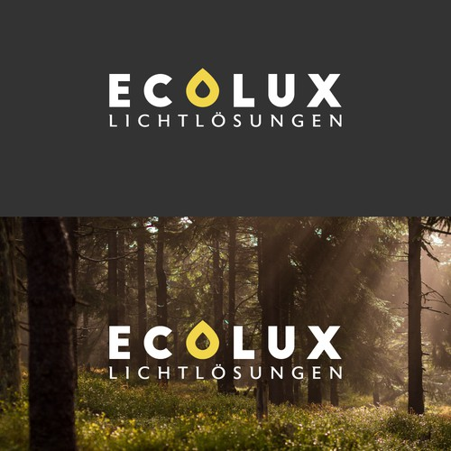 Logo design for Ecolux - An environmental friendly lighting company