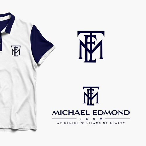 Clean, minimalist yet strong logo design concept for Michael Edmond Team.