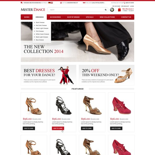 Design Dancing Shoe frontpage