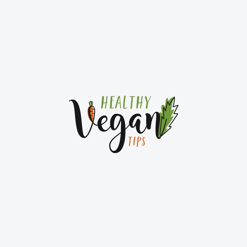 Design a trendy logo for my new vegan website