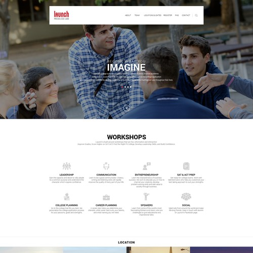 Web design for launch