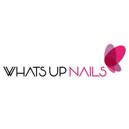 "Logo concept of ""Whats Up Nails"""
