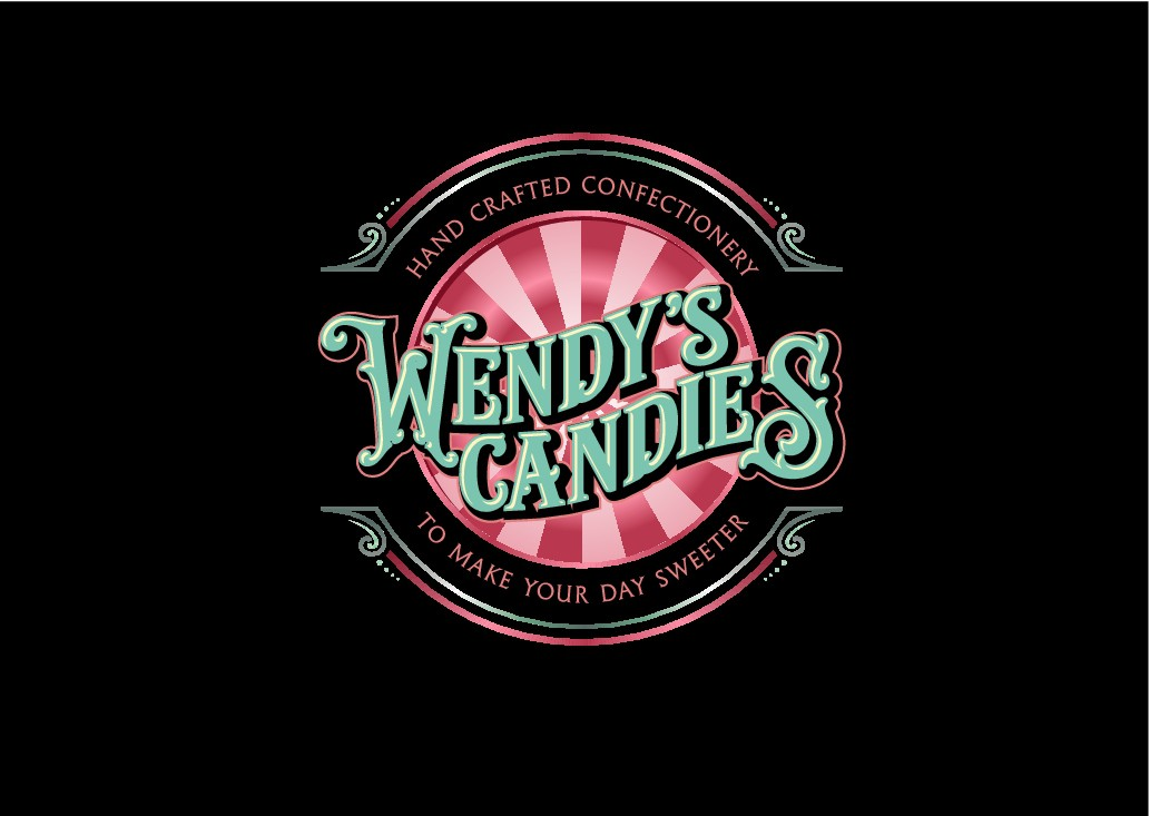 create a logo for Wendy's candies hand crafted confectionery