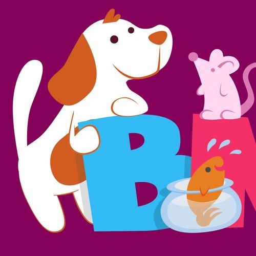 Alternative logo for a pet shop