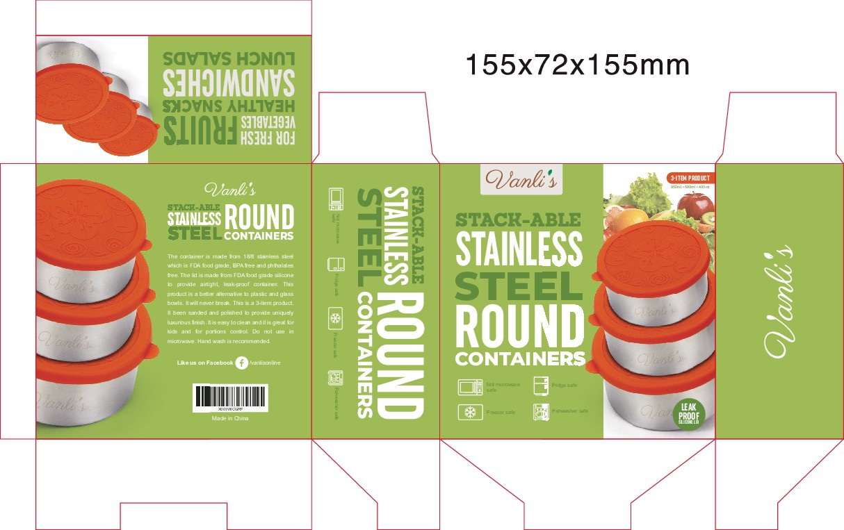 Project packaging for food stainless steel food container