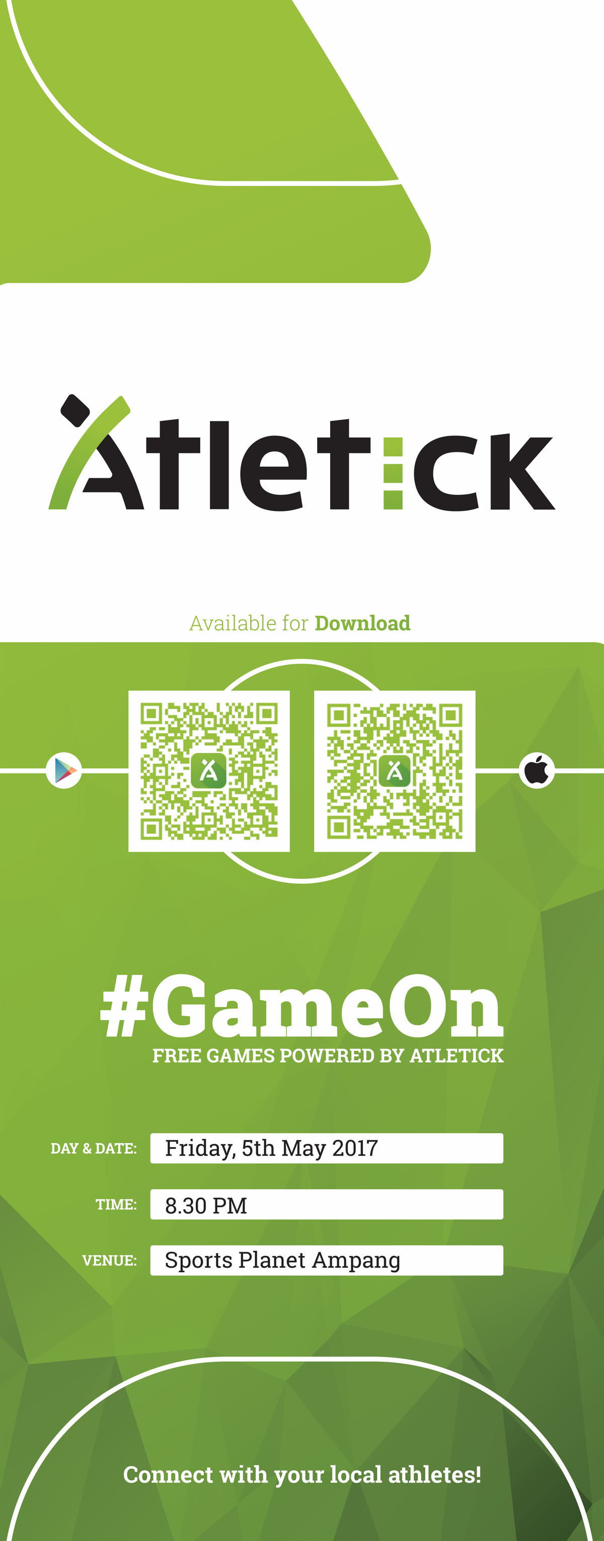 Banner and T-Shirt Design for Atletick