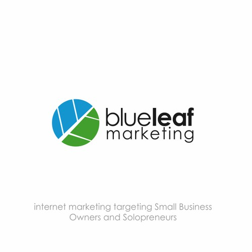 the best logo for blue leaf