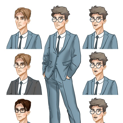 Personality character graphic style, original, cool and professional