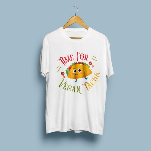 Trendy and goofy vegan t-shirt