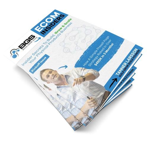 Bad Ass Magazine Cover Design For Ecommerce Business Training Newsletter