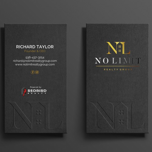 Luxurious Business card design for Real Estate Group