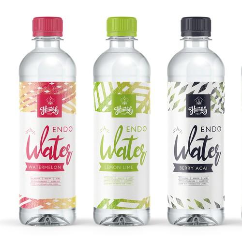 Flavoured water label design