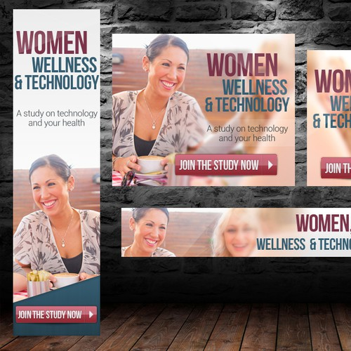 Women, Wellness and Technology Research Study Banner Ads