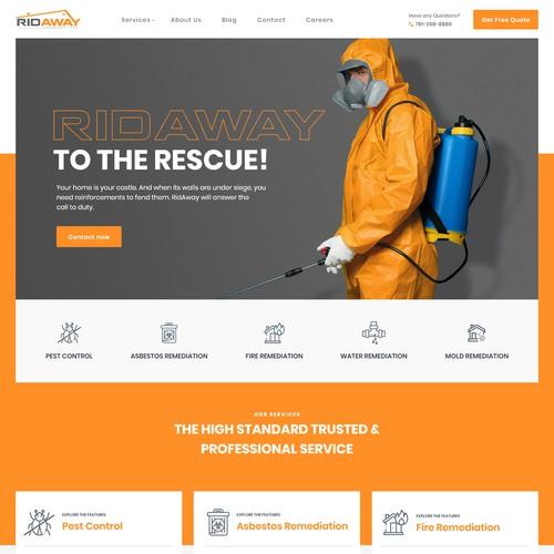 Pest & remediation Website Designs