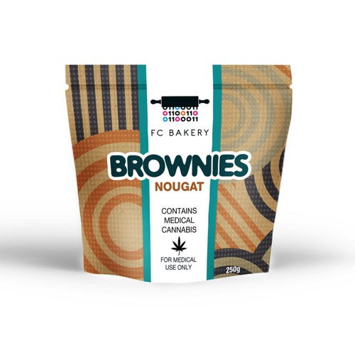 Product label for an innovative bakery