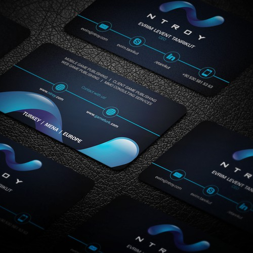 Business card for Game Publishing Company