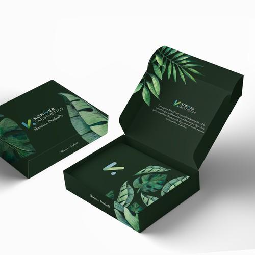 Luxury mailer box design for skin care line.