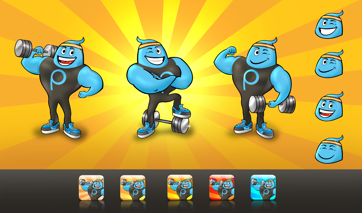 App Icon / Character for new fitness app