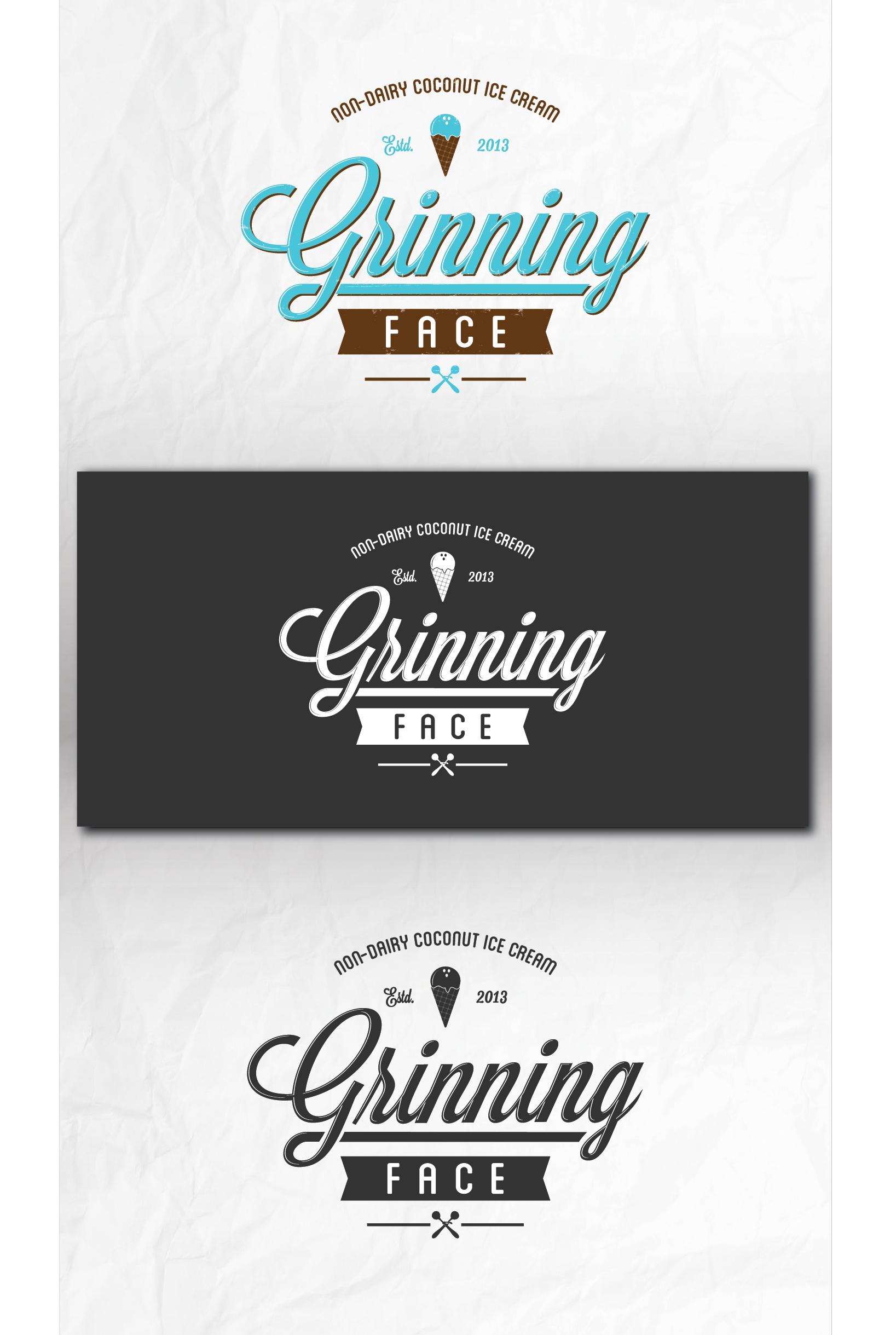 Grinning Face logo design