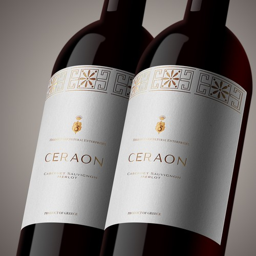 CERAON Wine Label Design