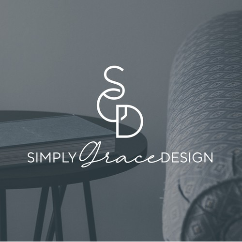 Initials based logo design dor the interior design business