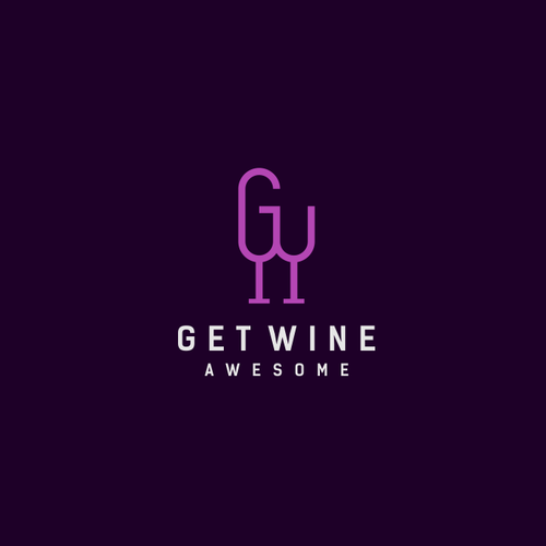 bottle concept with initials G&W