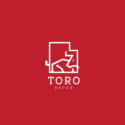 Minimalist Bull Logo Concept for Toro Paper